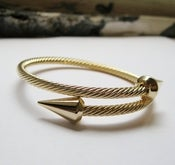 Image of Double Spike Twisted Bangle