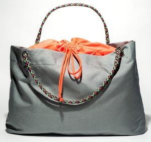 Image of Scotty - Karen Tote - Grey with Fluorescent Orange