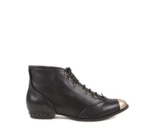 Image of Miista Gabriela Black Gold Toe Ankle Boots HALF PRICE