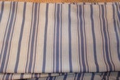 Image of 3.75 Yards of Striped Chambray Fabric