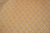 Image of 2.6 Yards Yellow Trellis Fabric