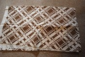 Image of 1.8 Yards Chocolate Brown and Ivory Linen Trellis
