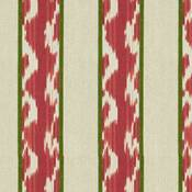 Image of 1.4 Yards Kravet Pink Ikat Stripe Fabric