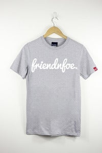 Image of The white on grey logo shirt