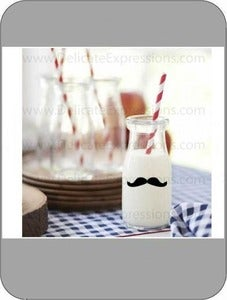 Image of Mustache Vinyl Decals {Set of 30}