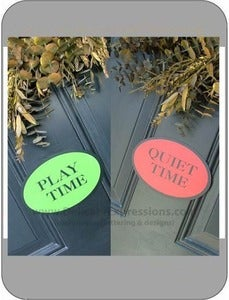 Image of Play/Quiet Time Door Magenet