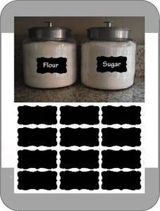 Image of Decorative Chalkboard Labels {Set of 12}