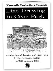 Image of Line Drawing in Civic Park Zine