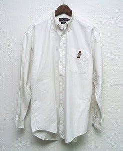 Image of Ralph Lauren oxford shirt teddybear logo (L)