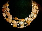 Image of N1336 Rose agate with fresh water pearls
