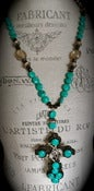 Image of N1188 Turquoise with cross pendant