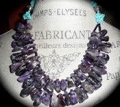 Image of N1044 Turquoise with amethyst nuggets