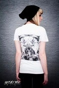 Image of S4L LADIES 'KABUSTACHE' WHITE T