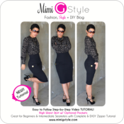 Image of High Waist Pencil Skirt Tutorial