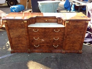 Image of Burled Walnut Dresser