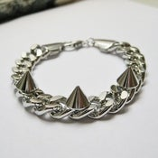 Image of Chain & Spikes Bracelet