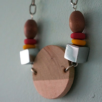 Image of Wooden Circular Necklace (1)