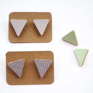Image of Triangle Earrings - Lots of Colours Available