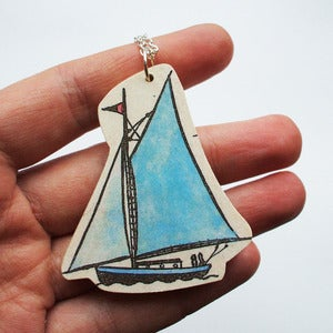 Image of Sail Boat Necklace