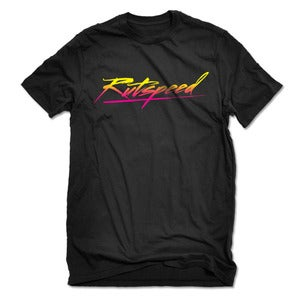 Image of Rutspeed Brush Script Logo Graphic T-Shirt