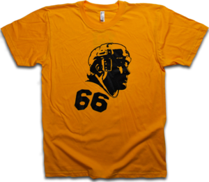 Image of Mario Lemieux Gold &amp; Black &quot;66&quot; tee by Backpage Press