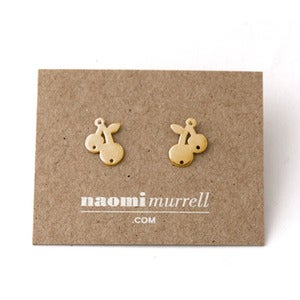 Image of Cherry Studs | Golden {25% OFF + FREE SHIPPING}