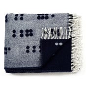 Image of Wool throw, dark blue
