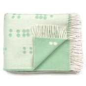 Image of Wool throw, Dot green