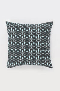 Image of Black Knit Knit Cushion