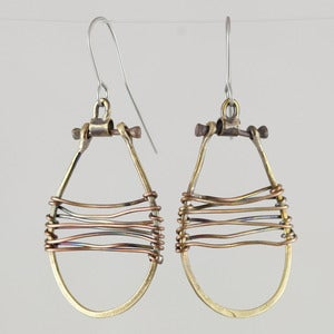 Image of Liz Parent Wrapped Wire Earrings