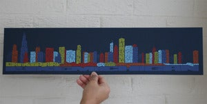 Image of Chicago Typography Skyline