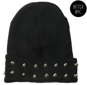 Image of BITTER SPIKED BEANIE 2X- BLACK
