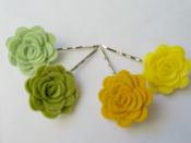 Image of Hair slide - Forest palette