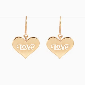Image of Love Heart Earrings | Golden - 79% OFF