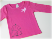 Image of Free as a bird tee - pink