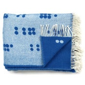 Image of Wool throw, Dot blue