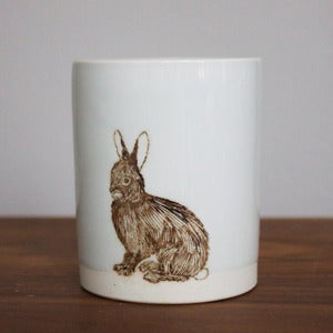 Image of Large White Rabbit Tumbler