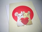 Image of Love Mouse Couple Valentine Card
