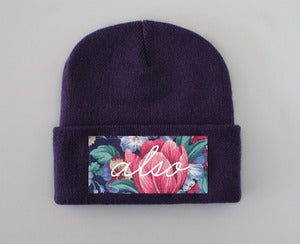 Image of Vintage Floral ALSO Beanie