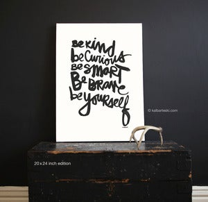 Image of BE YOURSELF print