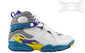 Image of Jordan 8 Aqua Retro - Womens