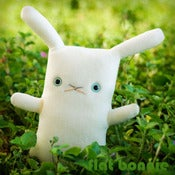 "Image of Flat Bonnie Bunny Plush - Pearl Blue Eyes (Classic 12"") More Colors Available - Handmade"