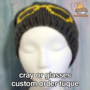 Image of CRAY or Glasses Handmade Tuque by Twinklepies - CUSTOM ORDER