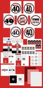 Image of printable THE BIG O 30, 40, 50, 60.... BIRTHDAY Full party Collection (As much fun as two...)