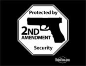 "Image of ""Protected By 2nd Amendment Security"" T Shirt or Hoody"