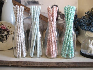 Image of Chevron Paper Straws