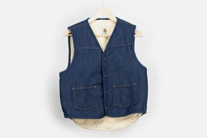 Image of carhartt USA Denim & Fleece Vest