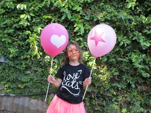 Image of Pink Heart & Star Balloons