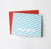 Image of striped thank you cards