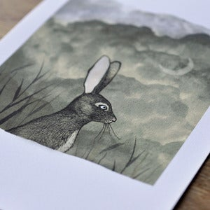 Image of Print ~ Bunny & The Moon